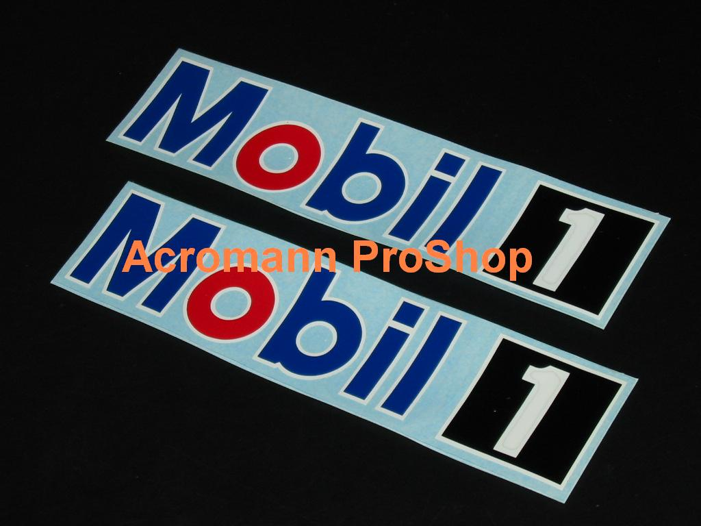 MOBIL 1 (Mobil One) oil 6inch Decal (Style#1) x 2 pcs